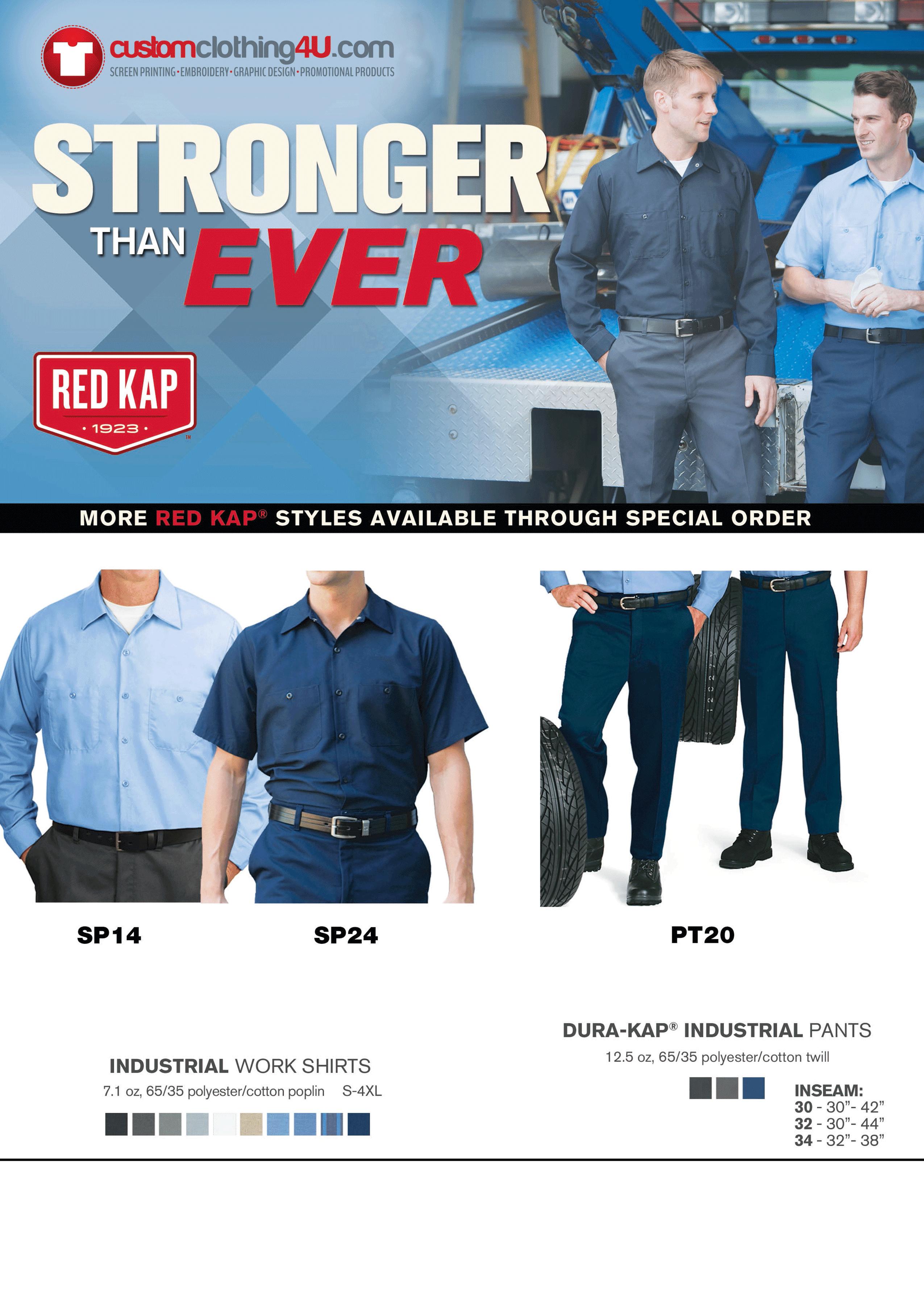 custom printed uniforms - branded workwear - custom clothing