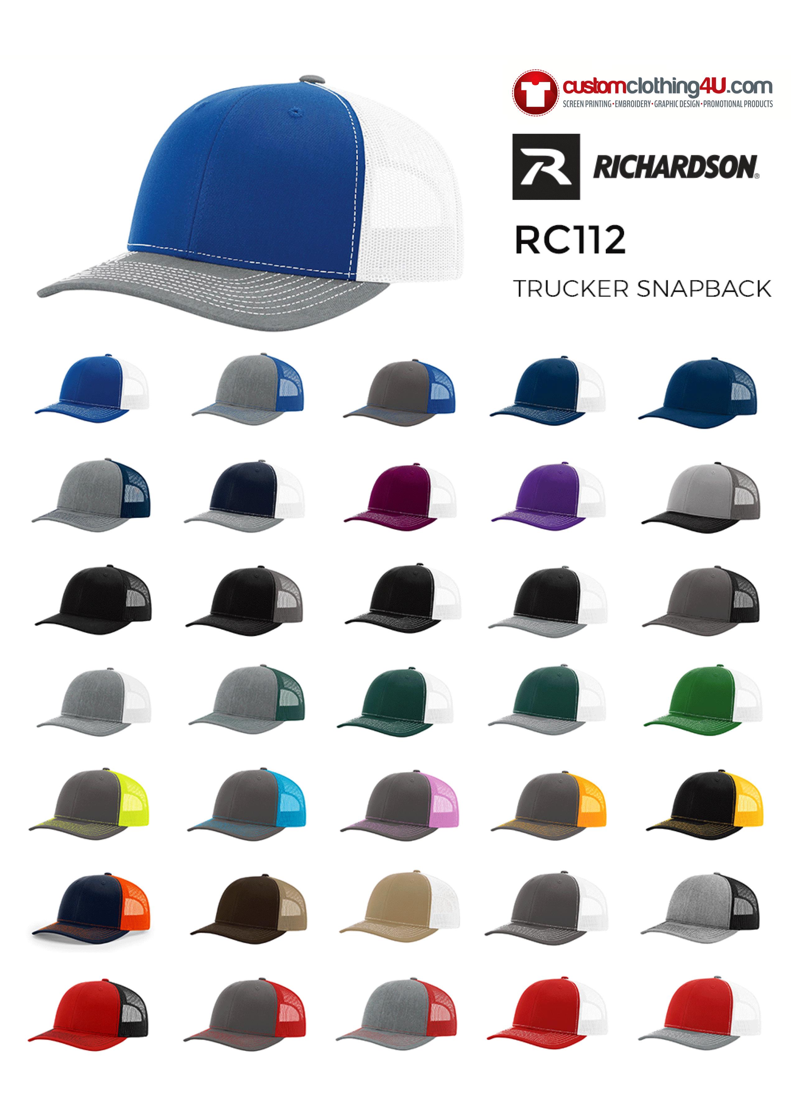CC4U - Richardson hats - branded baseball caps - your logo on a hat
