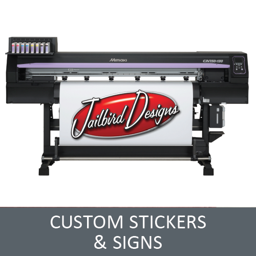 Your Ideas on Stickers & Signs - Logo on Stickers - Custom Clothing 4U
