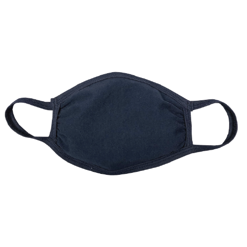 Your logo on a mask - customized masks - navy 100% cotton facemask