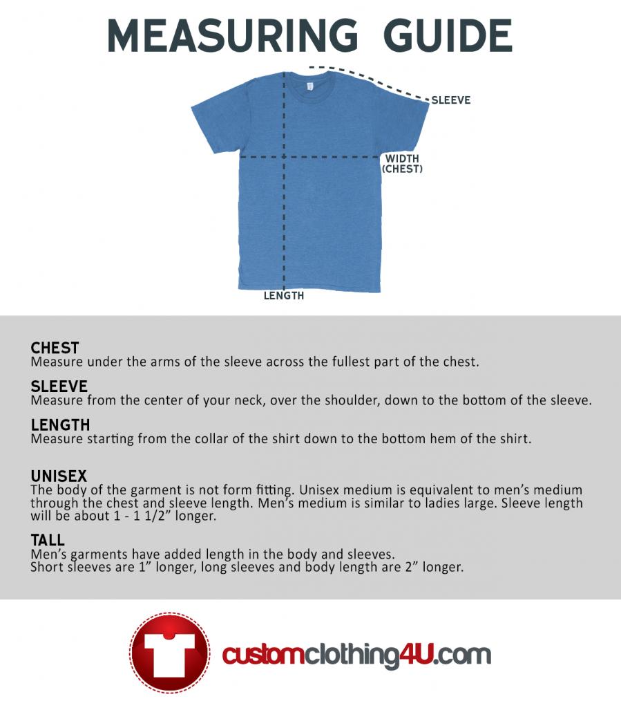 Custom Clothing Measuring Guidelines - custom printed garments
