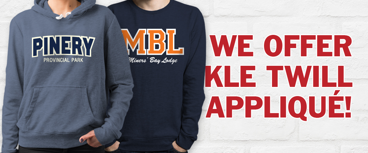 Customized Twill Clothing - Applique Sweatshirts and jackets